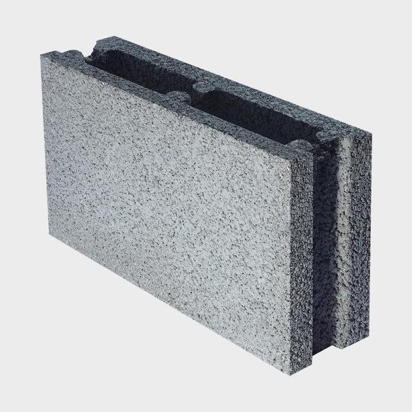 بلوک ۲۰ ۱۰ ۴۰ دو جداره اکو از نمای کنار