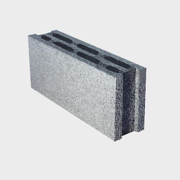 بلوک ۲۰ ۱۲ ۴۹ سه جداره ویژه از نمای کنار