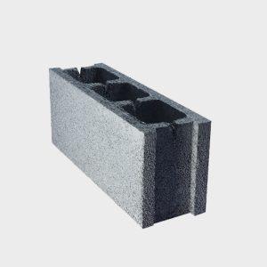 بلوک ۲۰ ۱۵ ۵۰ دو جداره اکو از نمای کنار