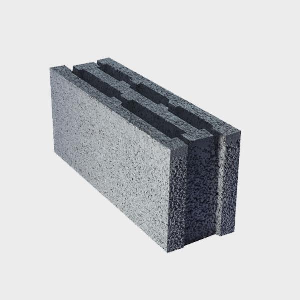 بلوک ۲۰ ۱۵ ۵۰ سه جداره اکو از نمای کنار