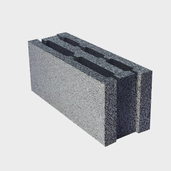 بلوک ۲۰ ۱۷.۵ ۴۹ سه جداره ویژه از نمای کنار